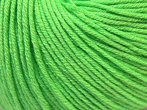 Fiber Content 60% Cotton, 40% Acrylic, Light Green, Brand ICE, Yarn Thickness 2 Fine  Sport, Baby, fnt2-32622