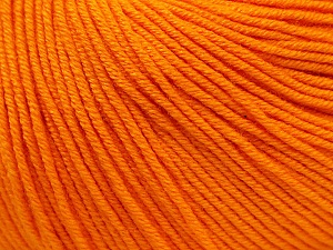 Fiber Content 60% Cotton, 40% Acrylic, Light Orange, Brand ICE, Yarn Thickness 2 Fine  Sport, Baby, fnt2-32880