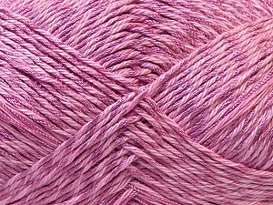 Fiber Content 50% Polyester, 50% Cotton, Lilac, Brand Ice Yarns, Yarn Thickness 2 Fine Sport, Baby, fnt2-33049