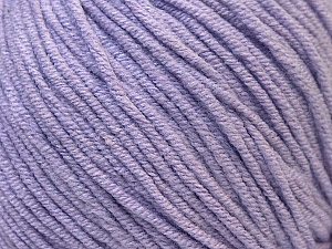 Fiber Content 50% Cotton, 50% Acrylic, Light Lilac, Brand ICE, Yarn Thickness 3 Light  DK, Light, Worsted, fnt2-33061