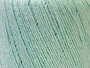 Fiber Content 50% Linen, 50% Viscose, Mint Green, Brand ICE, Yarn Thickness 2 Fine  Sport, Baby, fnt2-33262