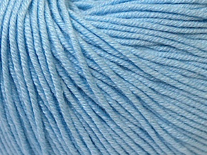 Fiber Content 60% Cotton, 40% Acrylic, Brand ICE, Baby Blue, Yarn Thickness 2 Fine  Sport, Baby, fnt2-33586