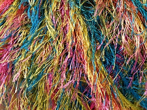 Fiber Content 100% Polyester, Yellow, Pink, Brand Ice Yarns, Green, Blue, Yarn Thickness 5 Bulky Chunky, Craft, Rug, fnt2-33979