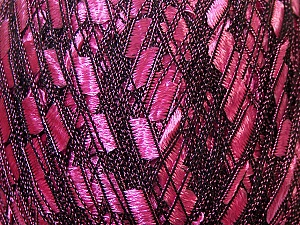 Trellis Fiber Content 100% Polyester, Pink, Brand ICE, Black, Yarn Thickness 5 Bulky Chunky, Craft, Rug, fnt2-34022