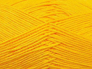 Fiber Content 100% Antibacterial Dralon, Yellow, Brand ICE, Yarn Thickness 2 Fine  Sport, Baby, fnt2-34594