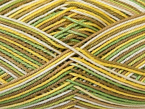 Ne: 8/4. Nm 14/4 Fiber Content 100% Mercerised Cotton, Yellow, White, Khaki, Brand ICE, Green, Yarn Thickness 2 Fine  Sport, Baby, fnt2-34755