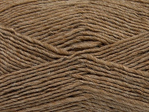 Fiber Content 50% Wool, 50% Acrylic, Brand ICE, Camel, Yarn Thickness 3 Light  DK, Light, Worsted, fnt2-35024