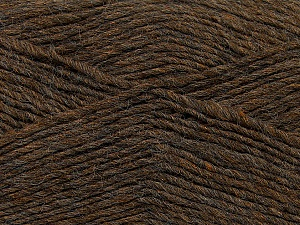 Fiber Content 50% Wool, 50% Acrylic, Brand ICE, Brown Melange, Yarn Thickness 3 Light  DK, Light, Worsted, fnt2-35025