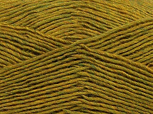 Fiber Content 50% Wool, 50% Acrylic, Olive Green Melange, Brand ICE, Yarn Thickness 3 Light  DK, Light, Worsted, fnt2-35030