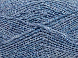 Fiber Content 50% Wool, 50% Acrylic, Lilac Melange, Brand ICE, Yarn Thickness 3 Light  DK, Light, Worsted, fnt2-35031