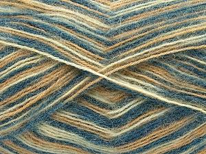 Fiber Content 70% Angora, 30% Acrylic, Brand Ice Yarns, Cream, Blue, Beige, Yarn Thickness 2 Fine Sport, Baby, fnt2-35088