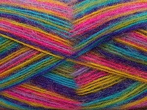 Fiber Content 70% Angora, 30% Acrylic, Yellow, Turquoise, Purple, Pink, Brand ICE, Green, Yarn Thickness 2 Fine  Sport, Baby, fnt2-35096