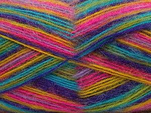Fiber Content 70% Angora, 30% Acrylic, Yellow, Turquoise, Purple, Pink, Brand Ice Yarns, Green, Yarn Thickness 2 Fine Sport, Baby, fnt2-35096