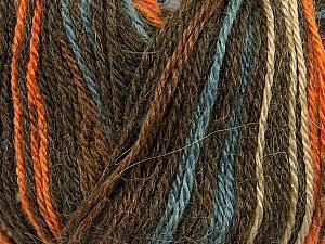 Fiber Content 40% Acrylic, 35% Wool, 25% Alpaca, Orange, Brand Ice Yarns, Camel, Brown, Blue, Yarn Thickness 2 Fine Sport, Baby, fnt2-36980