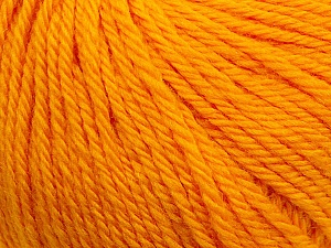 Fiber Content 100% Wool, Brand ICE, Dark Yellow, Yarn Thickness 4 Medium  Worsted, Afghan, Aran, fnt2-38003