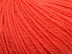 Fiber Content 100% Wool, Salmon, Brand ICE, Yarn Thickness 4 Medium  Worsted, Afghan, Aran, fnt2-38005