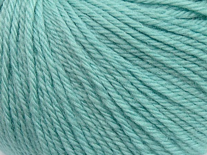 Fiber Content 100% Wool, Mint Green, Brand ICE, Yarn Thickness 4 Medium  Worsted, Afghan, Aran, fnt2-38017