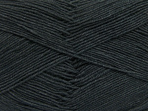 Fiber Content 55% Cotton, 45% Acrylic, Brand ICE, Dark Grey, Yarn Thickness 1 SuperFine  Sock, Fingering, Baby, fnt2-38665