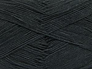Fiber Content 55% Cotton, 45% Acrylic, Brand ICE, Dark Grey, Yarn Thickness 1 SuperFine  Sock, Fingering, Baby, fnt2-38665