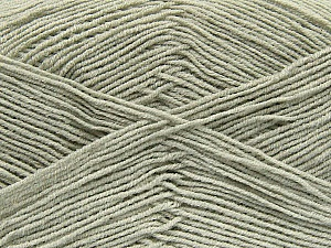 Fiber Content 55% Cotton, 45% Acrylic, Light Grey, Brand ICE, Yarn Thickness 1 SuperFine  Sock, Fingering, Baby, fnt2-38667