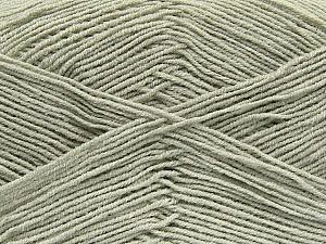 Fiber Content 55% Cotton, 45% Acrylic, Light Grey, Brand Ice Yarns, Yarn Thickness 1 SuperFine Sock, Fingering, Baby, fnt2-38667