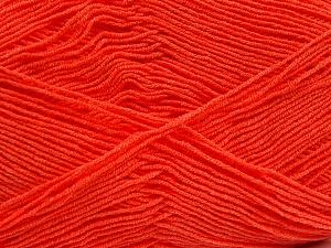 Fiber Content 55% Cotton, 45% Acrylic, Brand ICE, Bright Orange, Yarn Thickness 1 SuperFine  Sock, Fingering, Baby, fnt2-38672