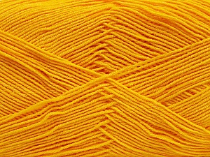 Fiber Content 55% Cotton, 45% Acrylic, Yellow, Brand ICE, Yarn Thickness 1 SuperFine  Sock, Fingering, Baby, fnt2-38673