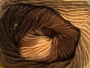 Fiber Content 50% Wool, 50% Acrylic, Brand ICE, Brown Shades, Yarn Thickness 2 Fine  Sport, Baby, fnt2-40623