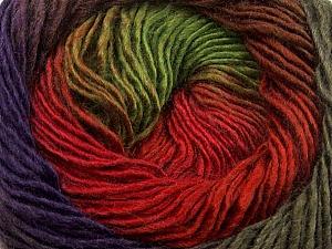 Fiber Content 50% Wool, 50% Acrylic, Red, Purple, Brand Ice Yarns, Green, Brown, Yarn Thickness 2 Fine Sport, Baby, fnt2-40631