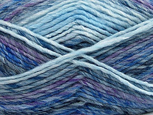 Fiber Content 75% Acrylic, 25% Wool, Purple, Brand ICE, Grey, Blue Shades, Yarn Thickness 5 Bulky  Chunky, Craft, Rug, fnt2-40816