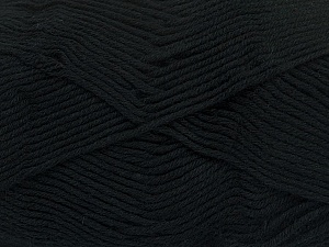 Fiber Content 50% Cotton, 50% Bamboo, Brand ICE, Black, Yarn Thickness 2 Fine  Sport, Baby, fnt2-41437