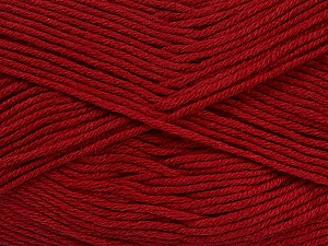 Fiber Content 50% Cotton, 50% Bamboo, Brand ICE, Burgundy, Yarn Thickness 2 Fine  Sport, Baby, fnt2-41442