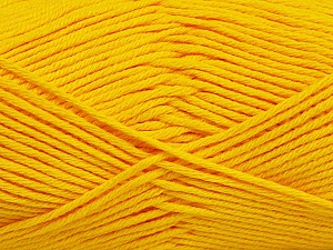 Fiber Content 50% Cotton, 50% Bamboo, Yellow, Brand ICE, Yarn Thickness 2 Fine  Sport, Baby, fnt2-41444