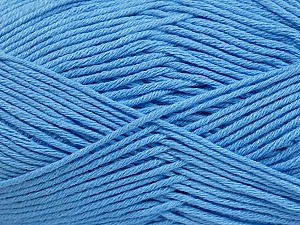 Fiber Content 50% Cotton, 50% Bamboo, Light Blue, Brand ICE, Yarn Thickness 2 Fine  Sport, Baby, fnt2-41448