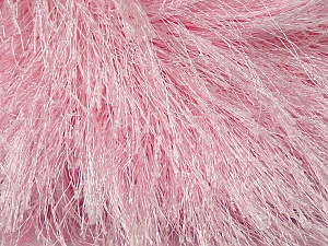 Fiber Content 100% Polyester, Brand ICE, Baby Pink, Yarn Thickness 6 SuperBulky  Bulky, Roving, fnt2-42077