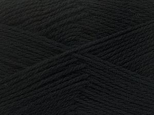 Fiber Content 100% Virgin Wool, Brand ICE, Black, Yarn Thickness 3 Light  DK, Light, Worsted, fnt2-42303