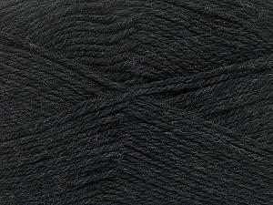 Fiber Content 100% Virgin Wool, Brand ICE, Anthracite Black, Yarn Thickness 3 Light  DK, Light, Worsted, fnt2-42304