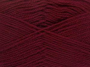 Fiber Content 100% Virgin Wool, Brand ICE, Burgundy, Yarn Thickness 3 Light  DK, Light, Worsted, fnt2-42309