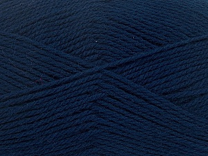 Fiber Content 100% Virgin Wool, Navy, Brand ICE, Yarn Thickness 3 Light  DK, Light, Worsted, fnt2-42310