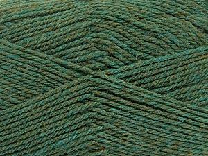 Fiber Content 100% Virgin Wool, Khaki Melange, Brand ICE, Yarn Thickness 3 Light  DK, Light, Worsted, fnt2-42313
