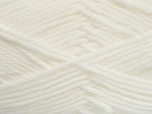 Fiber Content 50% Acrylic, 50% Polyamide, White, Brand ICE, Yarn Thickness 3 Light  DK, Light, Worsted, fnt2-42370