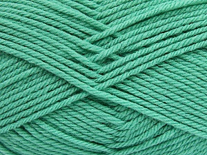 Fiber Content 50% Acrylic, 50% Polyamide, Mint Green, Brand ICE, Yarn Thickness 3 Light  DK, Light, Worsted, fnt2-42381