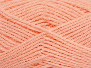 Fiber Content 50% Acrylic, 30% Wool, 20% Polyamide, Light Orange, Brand ICE, Yarn Thickness 2 Fine  Sport, Baby, fnt2-42417