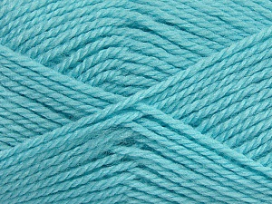 Fiber Content 50% Acrylic, 30% Wool, 20% Polyamide, Light Turquoise, Brand ICE, Yarn Thickness 2 Fine  Sport, Baby, fnt2-42424