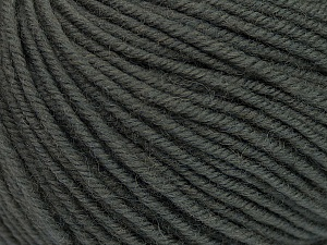 SUPERWASH MERINO is a worsted weight 100% superwash merino yarn available in 47 beautiful colors. Marvelous hand, perfect stitch definition, and a soft-but-sturdy finished fabric. Projects knit and crocheted in SUPERWASH MERINO are machine washable! Lay flat to dry. Fiber Content 100% Superwash Merino Wool, Brand Ice Yarns, Dark Grey, Yarn Thickness 4 Medium  Worsted, Afghan, Aran, fnt2-42446