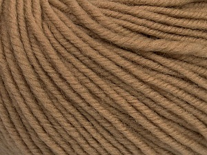 SUPERWASH MERINO is a worsted weight 100% superwash merino yarn available in 47 beautiful colors. Marvelous hand, perfect stitch definition, and a soft-but-sturdy finished fabric. Projects knit and crocheted in SUPERWASH MERINO are machine washable! Lay flat to dry. Fiber Content 100% Superwash Merino Wool, Latte, Brand ICE, Yarn Thickness 4 Medium  Worsted, Afghan, Aran, fnt2-42453
