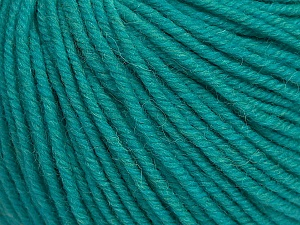 SUPERWASH MERINO is a worsted weight 100% superwash merino yarn available in 47 beautiful colors. Marvelous hand, perfect stitch definition, and a soft-but-sturdy finished fabric. Projects knit and crocheted in SUPERWASH MERINO are machine washable! Lay flat to dry. Fiber Content 100% Superwash Merino Wool, Turquoise, Brand ICE, Yarn Thickness 4 Medium  Worsted, Afghan, Aran, fnt2-42461