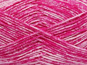 Strong pure cotton yarn in beautiful colours, reminiscent of bleached denim. Machine washable and dryable. Fiber Content 100% Cotton, White, Brand ICE, Candy Pink, Yarn Thickness 3 Light  DK, Light, Worsted, fnt2-42567