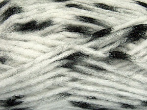 Make a knot on the spots part of the yarn while knitting to give a pompom look. Fiber Content 82% Acrylic, 18% Polyamide, White, Brand ICE, Black, Yarn Thickness 5 Bulky  Chunky, Craft, Rug, fnt2-42687