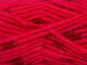Make a knot on the spots part of the yarn while knitting to give a pompom look. Fiber Content 82% Acrylic, 18% Polyamide, Red, Pink, Brand ICE, Yarn Thickness 5 Bulky  Chunky, Craft, Rug, fnt2-42693